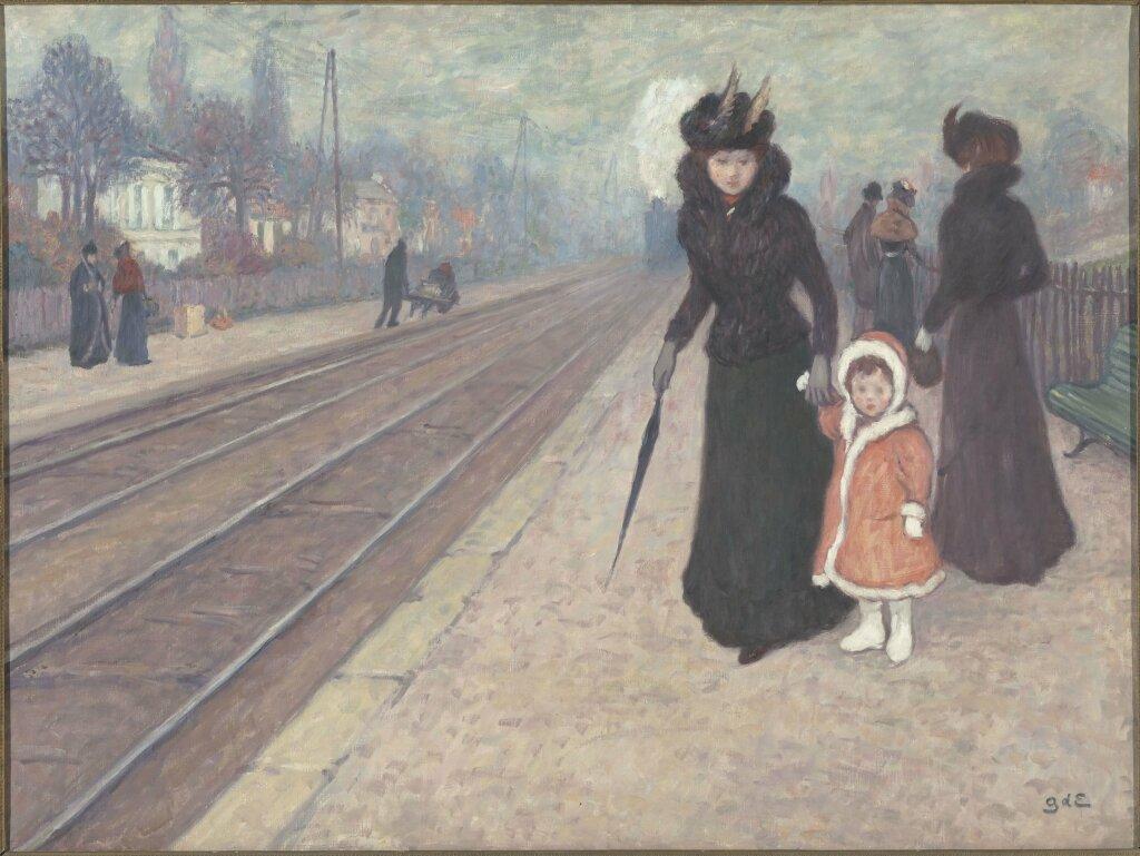 Georges d'Espagnat, La Gare de Banlieue, 1896 - 1897
