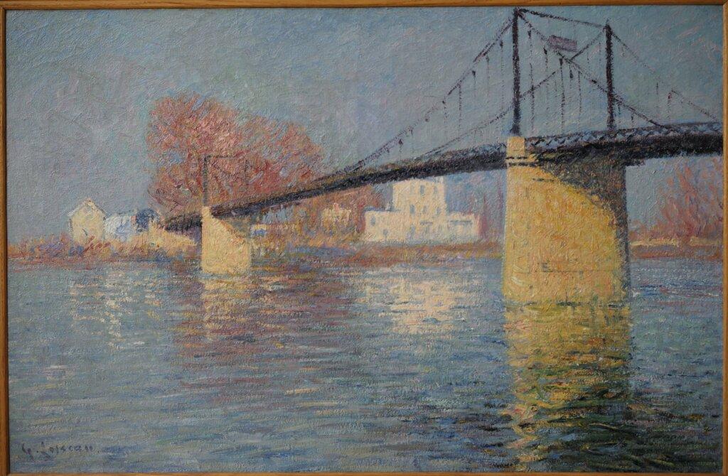 Gustave Loiseau, Le Pont suspendu, 1917