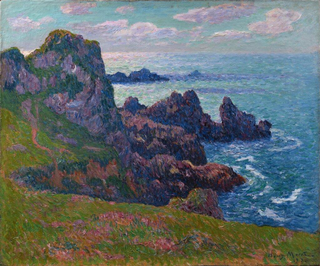 H Moret. temps calme à Pern, Ouessant, 1892