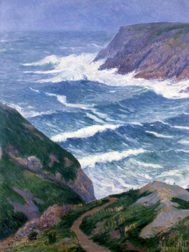 Henry Moret, Ile de Groix, paysage côtier (entrée du port Saint Nicolas), 1908
