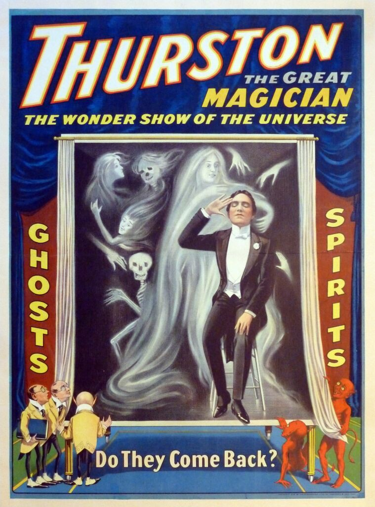 Thurston, Ghosts-Spirits affiche, 1916