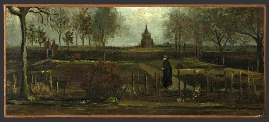Vincent Van Gogh, Jardin du presbytère de Nuenen au printemps, 1884
