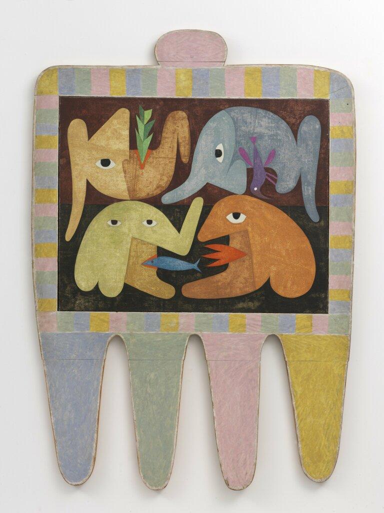 Victor Brauner, Le tableau à quatre pattes, 1965