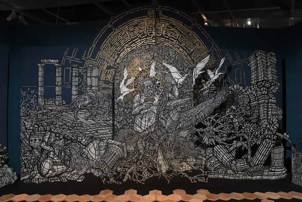 Vue de l'exposition Boire avec les Dieux, Cité du Vin