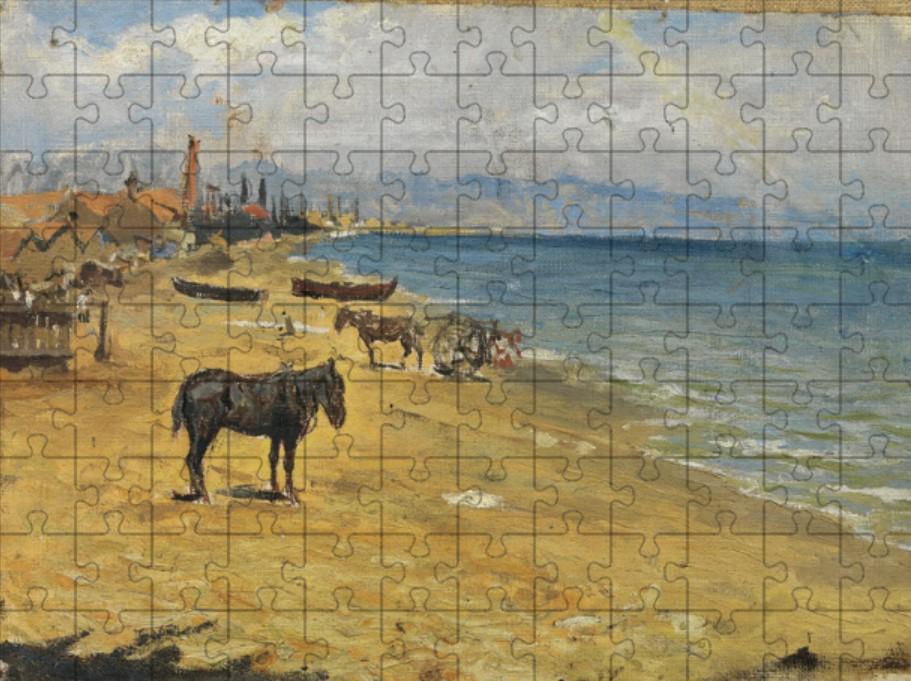 """Le puzzle """"Barceloneta Beach"""" de Picasso reconstitué"""