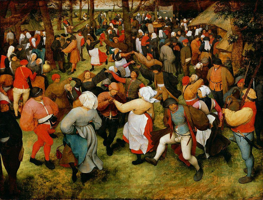 """""""La danse de la mariée en plein air"""" de Peter Bruegel"""