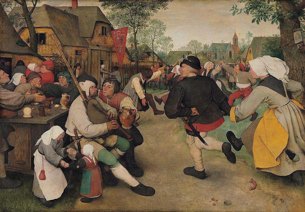 """""""La danse des paysans"""" de Peter Bruegel"""