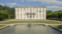 Château de Bouges, Perspective sur la façade ouest depuis le buffet d'eau