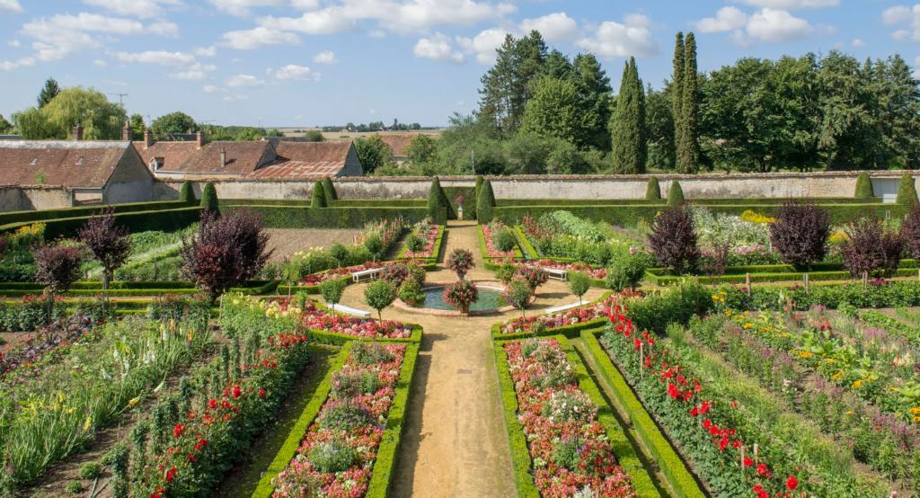 Vue d'ensemble du jardin de fleurs