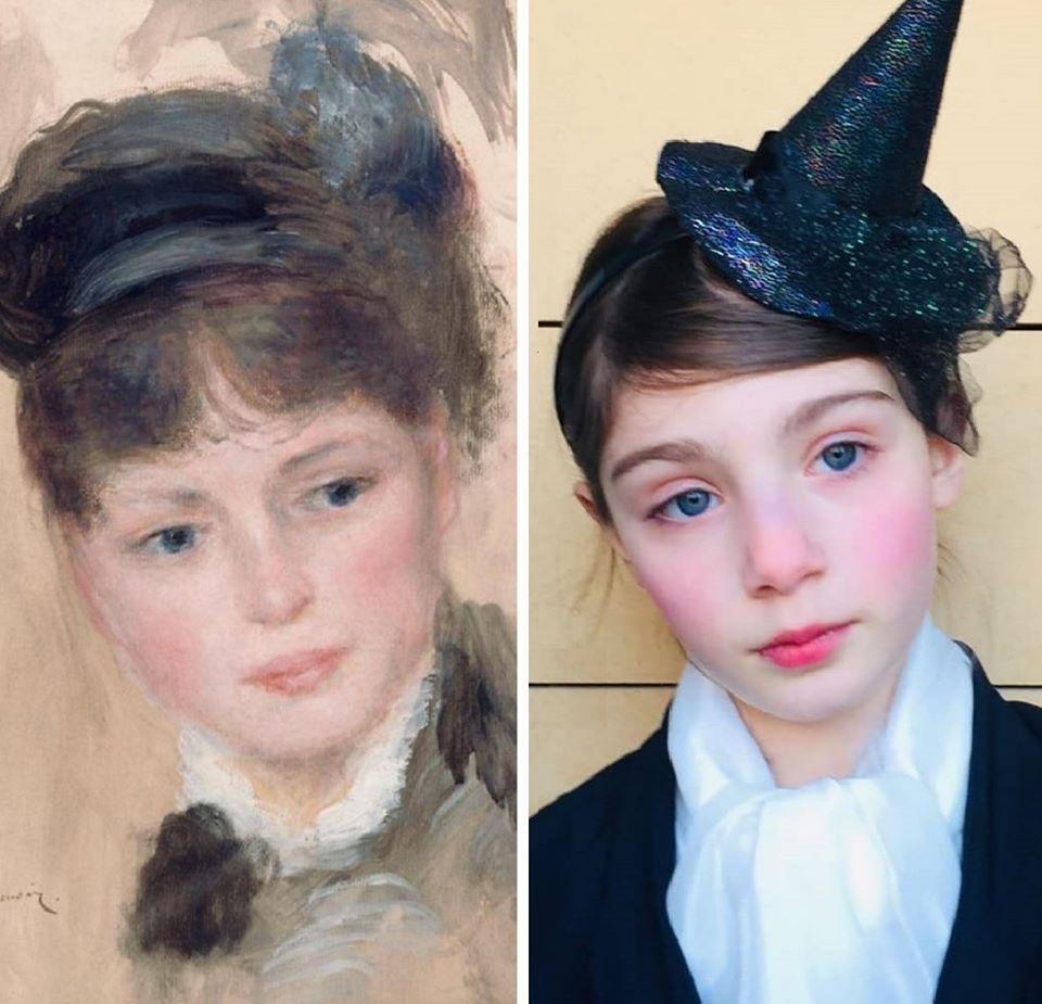 """""""La Jeune femme au chapeau noir"""" d'Auguste Renoir revisité"""