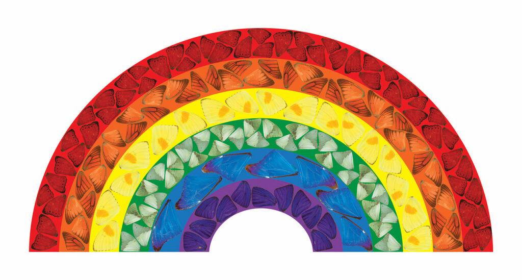"""Damien Hirst """"Buttefly Rainbow"""""""