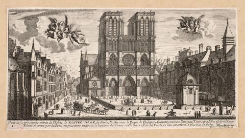 Estampe attribuée à Jean Marot (XVIIème siècle)