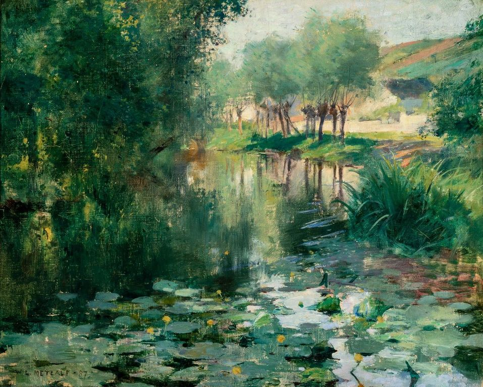 Willard Metcalf (1858-1925) Le Bassin aux nymphéas, 1887