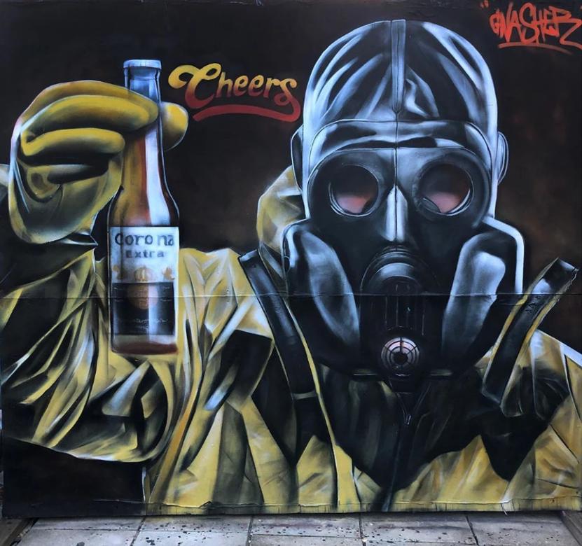 gnashermurals street art coronavirus