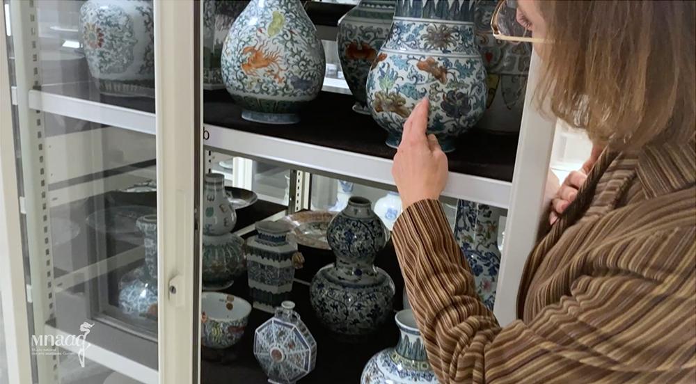 Réserve des céramiques chinoises du musée Guimet