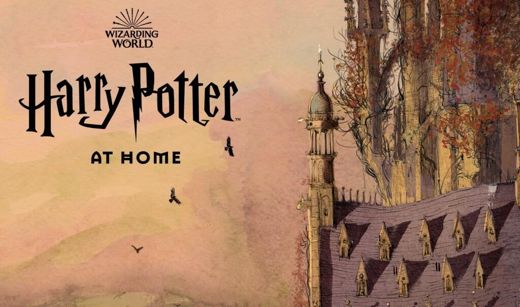 "Logo de la plateforme ""Harry Potter at home"""