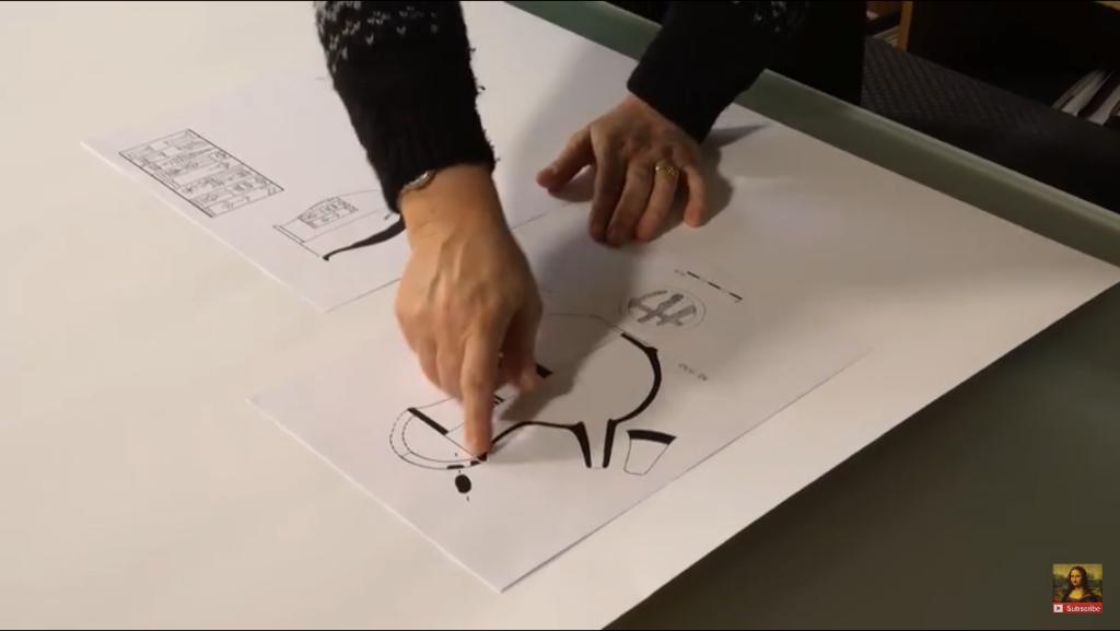 Capture d'écran vidéo musée du Louvre - Caroline Florimont, le dessin archéologique