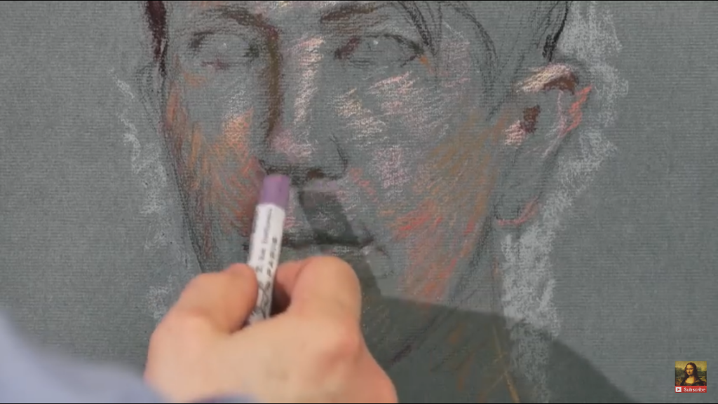 Capture d'écran vidéo musée du Louvre - Timothy Stotz, la technique du pastel