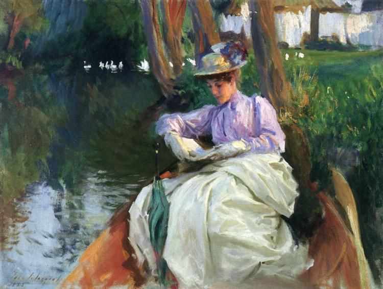 "John Singer Sargent ""By the river"" (1885)"