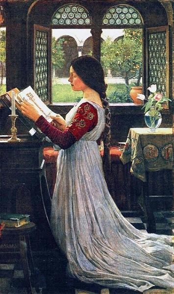 "John William Waterhouse ""The Missal"""