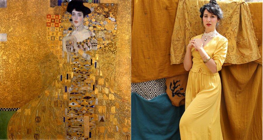 Tableau de Klimt recréé pour le Getty Museum Challenge