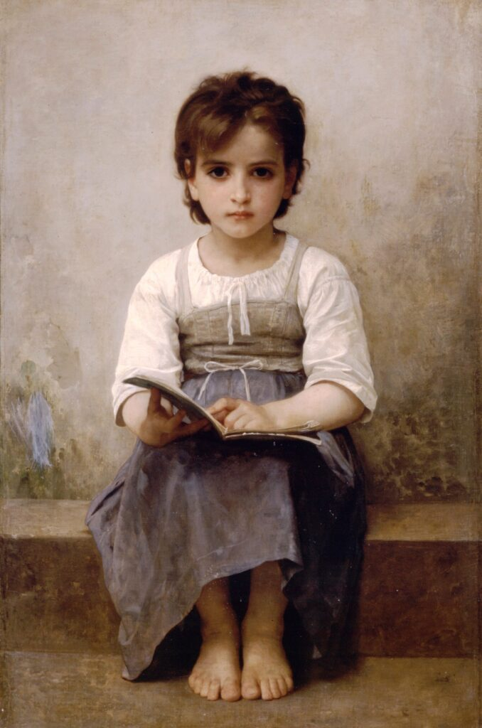 "William-Adolphe Bouguereau ""La leçon difficile"""
