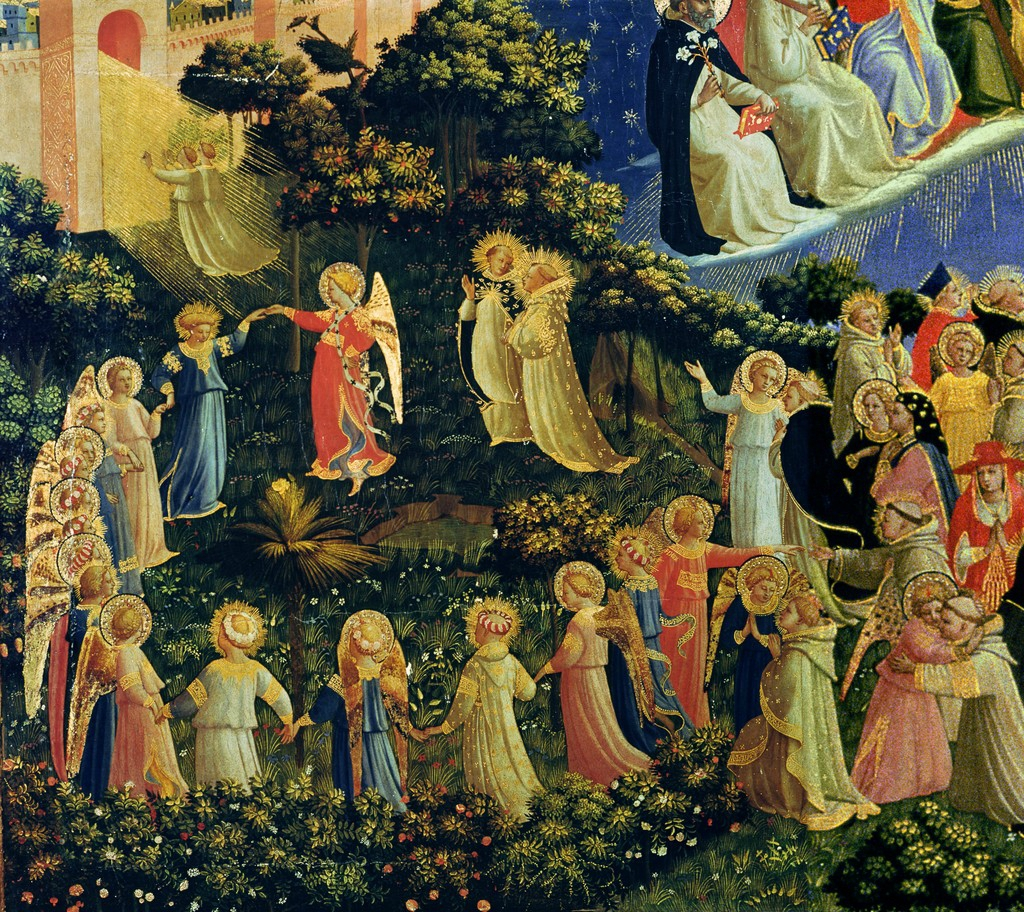 """""""La ronde des élus"""" (détail du """"Jugement dernier"""") de Fra Angelico"""