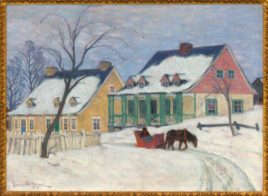 Clarence Gagnon, Vieilles maisons, Baie Saint-Paul, vers 1912, Collection particulière Toronto
