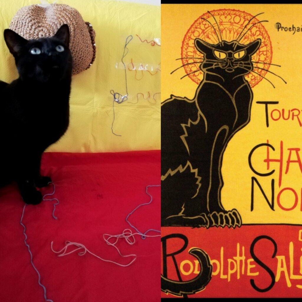 Affiche du Chat noir recréée pour le Getty Museum Challenge