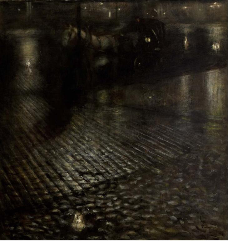 Joseph Pankiewicz, Cab sous la pluie (1896)