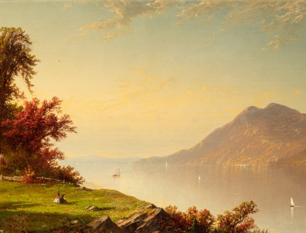 Alfred Thomson Bricher, Le Fleuve Hudson à West Point, 1864