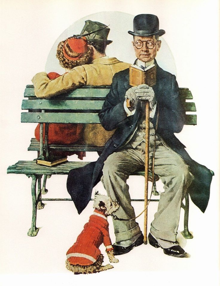 "Norman Rockwell ""All Buttoned Up"""