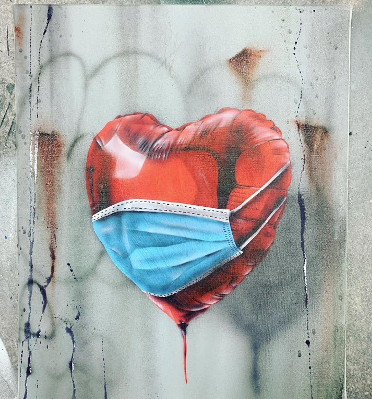one mizer street art coronavirus