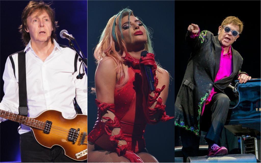 Paul McCartney, Lady Gaga et Elton John