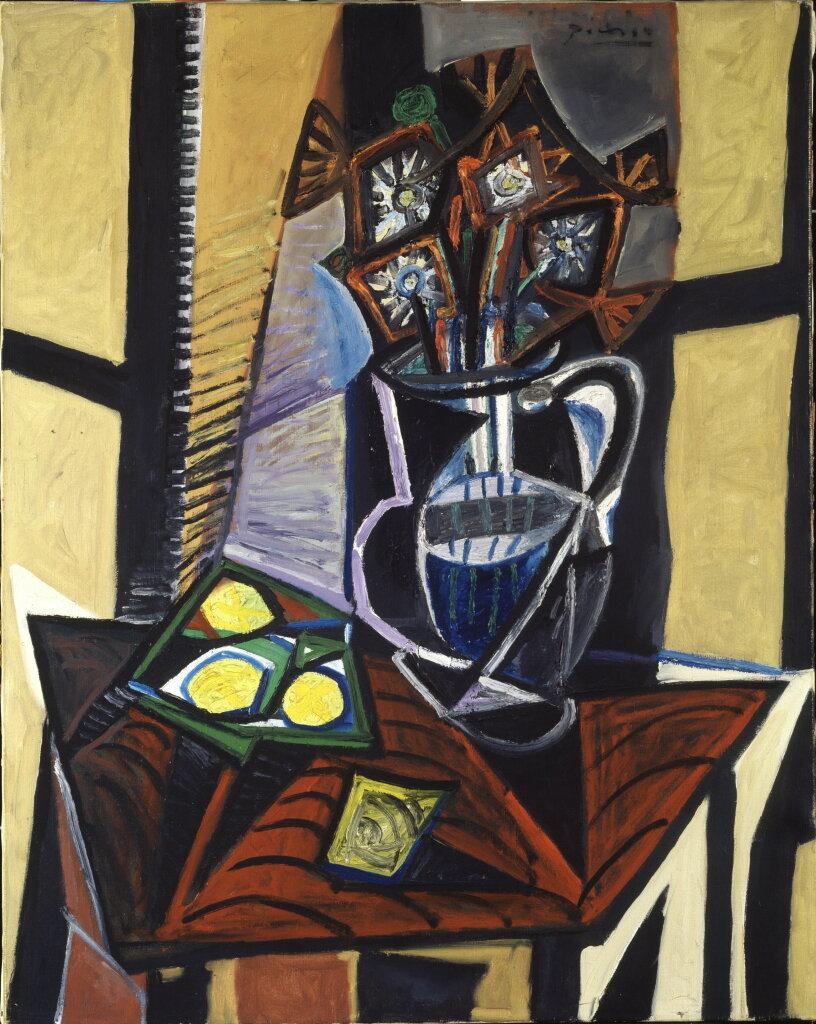 Picasso, Nature morte avec fleurs et citrons