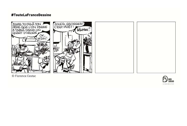 Planche Florence Cestac - Cité internationale de la Bande dessinée