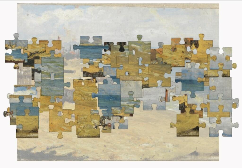 """Le puzzle """"Barceloneta Beach"""" de Picasso en vrac"""
