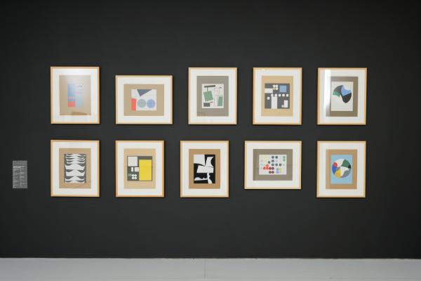 """Sophie Taeuber-Arp, """"Sans titre"""", suite de 10 sérigraphies (dissociables) réalisées d'après des gouaches, 1928-1938"""
