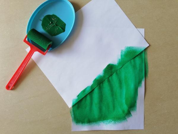 Un fond vert bien vif
