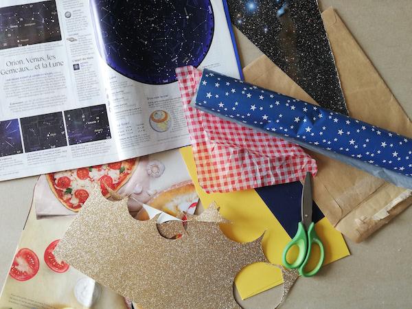 Magazines, emballages, chutes de papier cadeaux et vieilles enveloppes