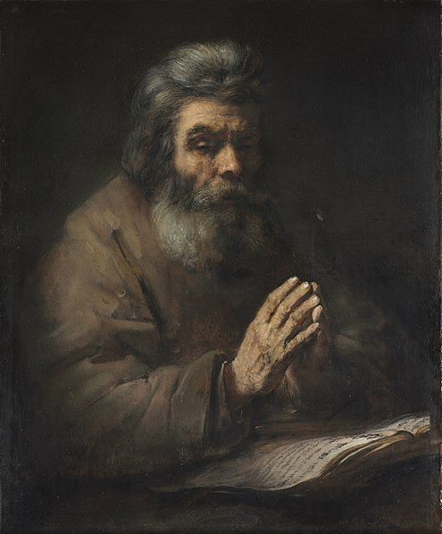 "Rembrandt ""An Elderly Man in Prayer"""