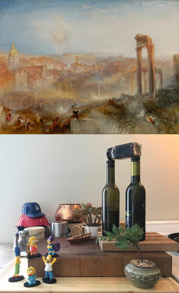 Paysage romaine de Turner recrée pour le Getty Museum Challenge