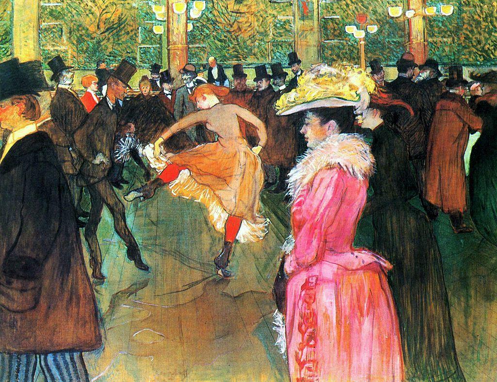 """""""La danse au Moulin rouge"""" de Toulouse-Lautrec"""