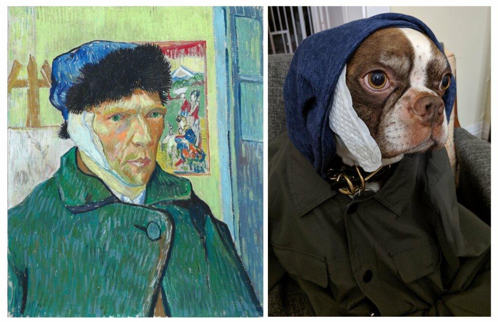 Tableau de Van Gogh recréé pour le Getty Museum Challenge