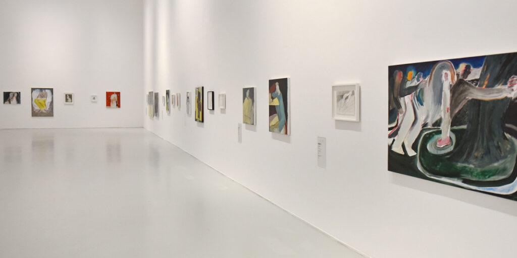 Vue de l'exposition de Firenze Lai, L'équilibre des blancs