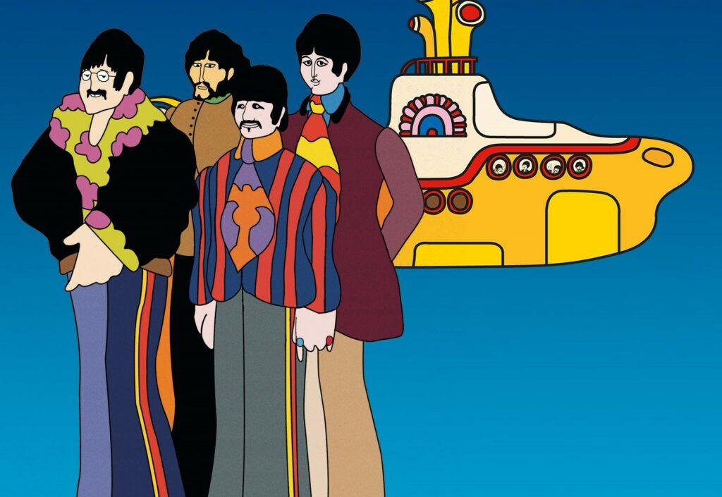 "Film d'animation ""Yellow Submarine"" avec les Beatles"