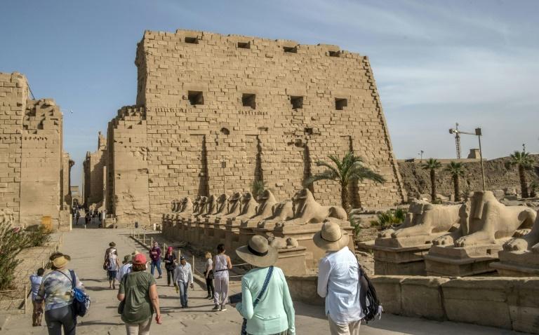 Les sphinx du temple de Karnark, à Louxor, en Egypte, le 10 mars 2020