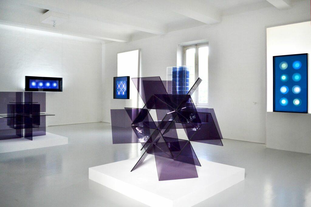 Vue de l'exposition Francisco Sobrino / œuvres de l'artiste - Collection Famille Sobrino