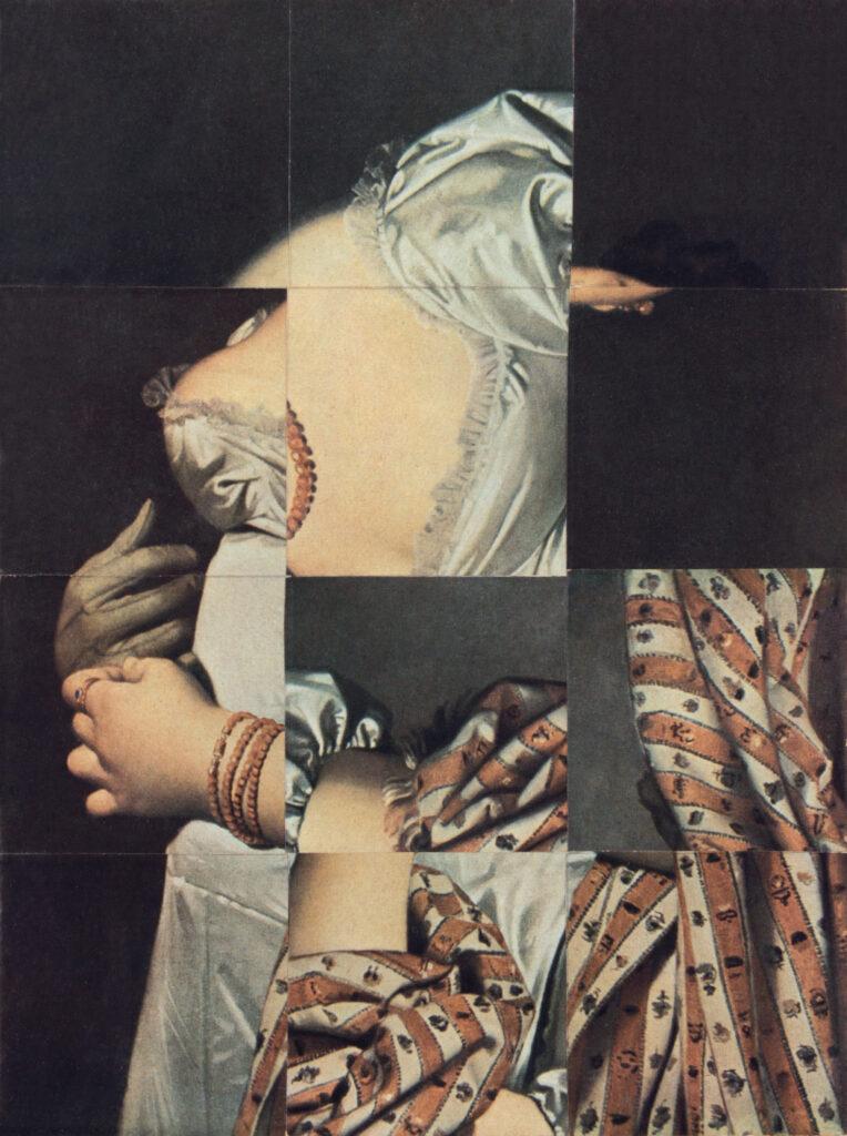 Ghérasim Luca, Cubomanie (Portrait de Melle Rivière d'après Ingres), sans date, collage, 25 x 18,2 cm