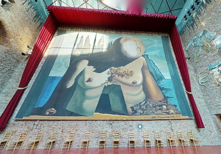 Capture d'écran visite virtuelle Théâtre-musée Dali